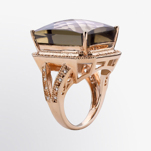 Smoky Topaz Statement Ring