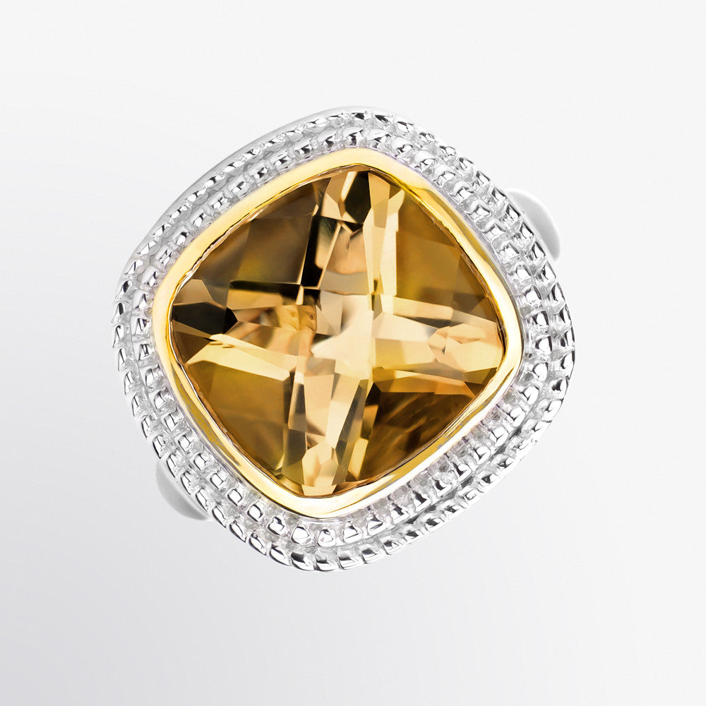 Cognac Double Halo Ring