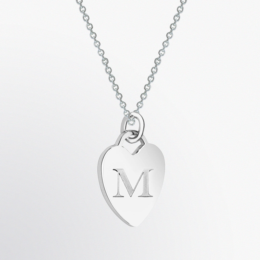 Personalized Heart Charm Pendant