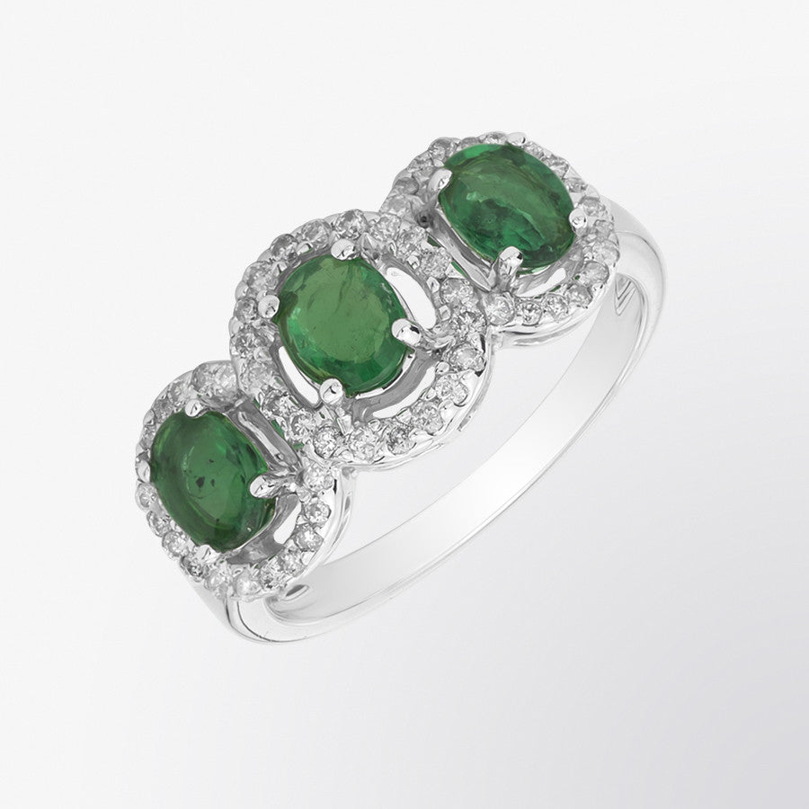 emerald half gold victorian ring style hoop image in rings stone