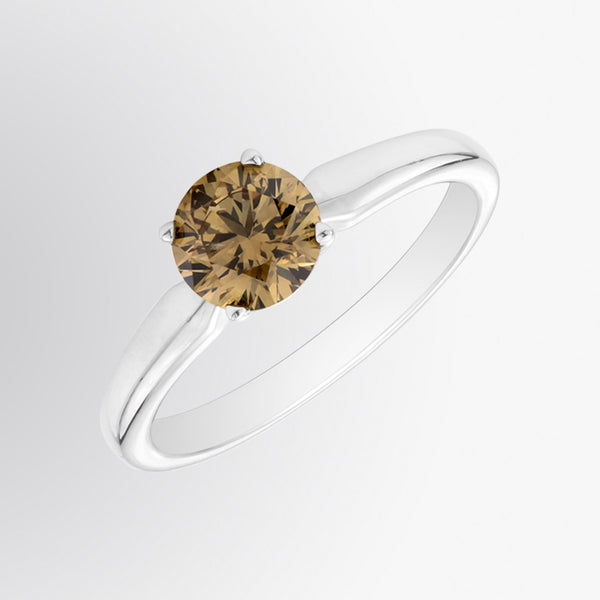 Brown Diamond Solitaire Ring