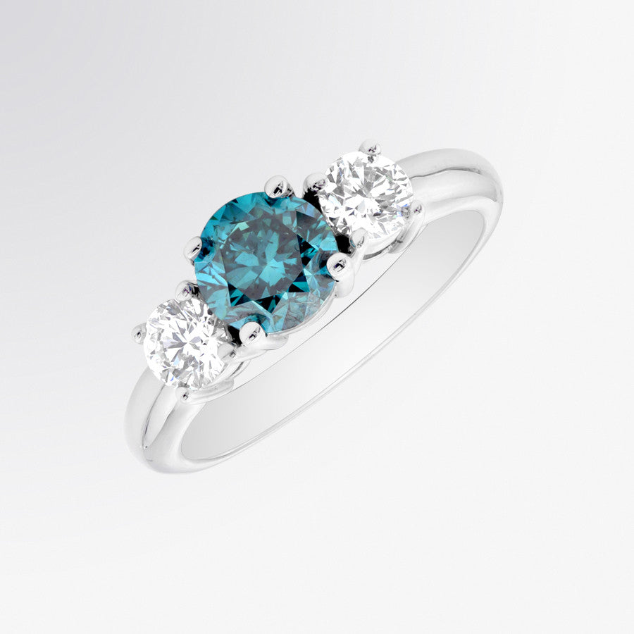 ring fifth stone and bd products a blue gemstone bond three diamond