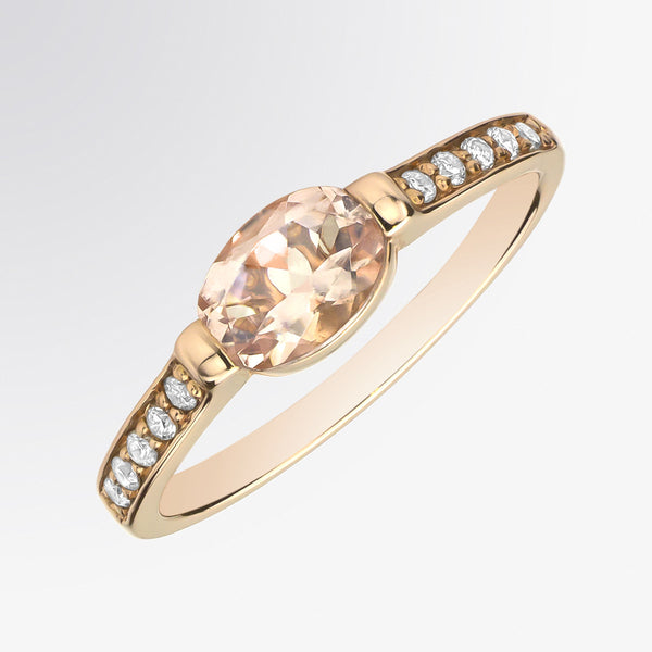 Morganite and Diamond Ring