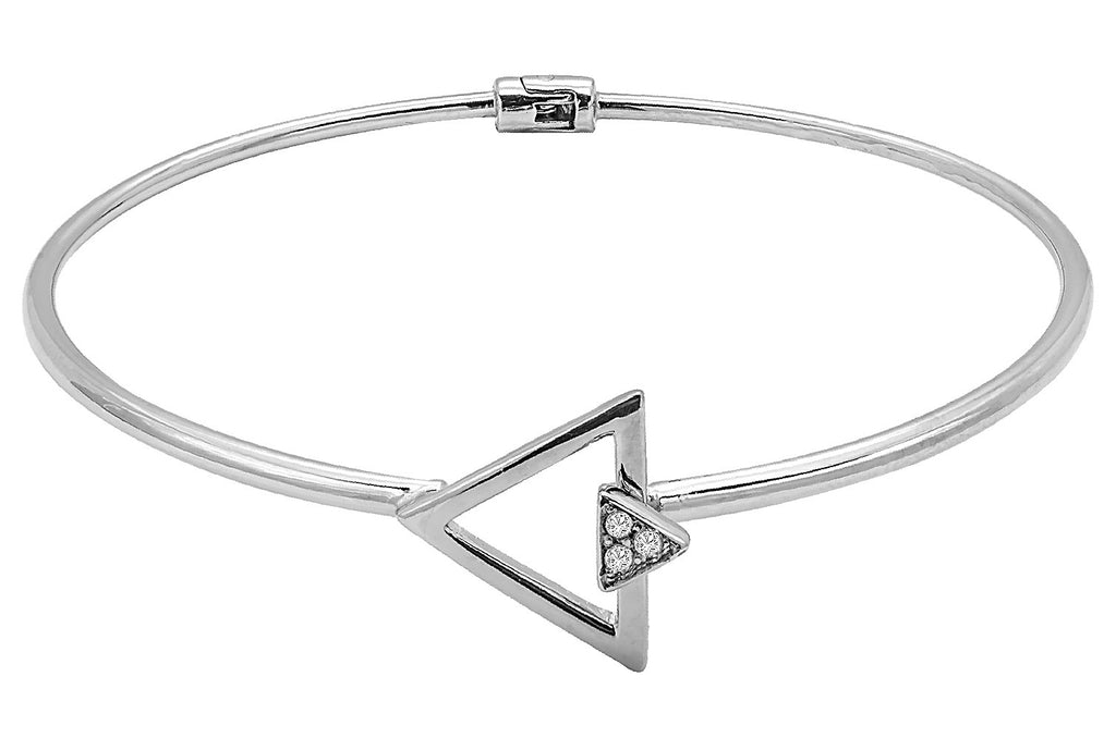 Triangle Diamond Bangle
