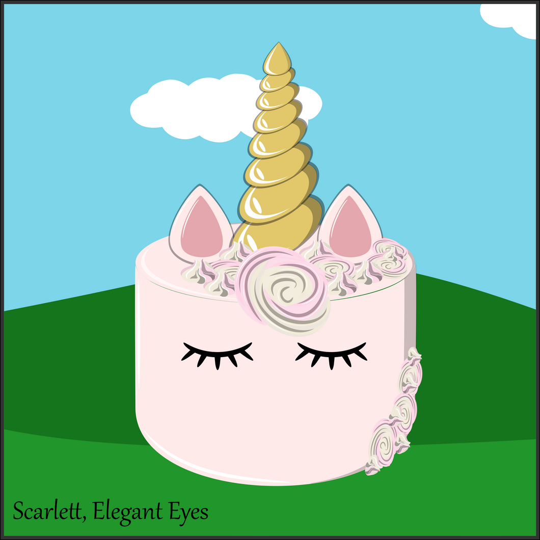 Single Tier Scarlett Unicorn Cake - Unicorn Escapade Singapore