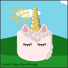 Load image into Gallery viewer, Single Tier Scarlett Unicorn Cake - Unicorn Escapade Singapore