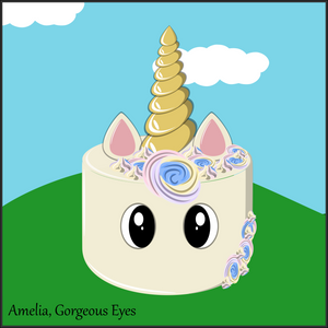 Single Tier Amelia Rainbow Unicorn Cake - Unicorn Escapade Singapore