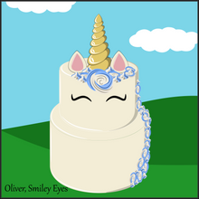 Load image into Gallery viewer, Two Tier Oliver Unicorn Cake - Unicorn Escapade Singapore