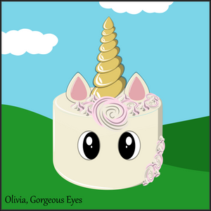 Single Tier Olivia Unicorn Cake - Unicorn Escapade Singapore