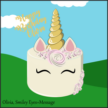 Load image into Gallery viewer, Single Tier Olivia Unicorn Cake - Unicorn Escapade Singapore
