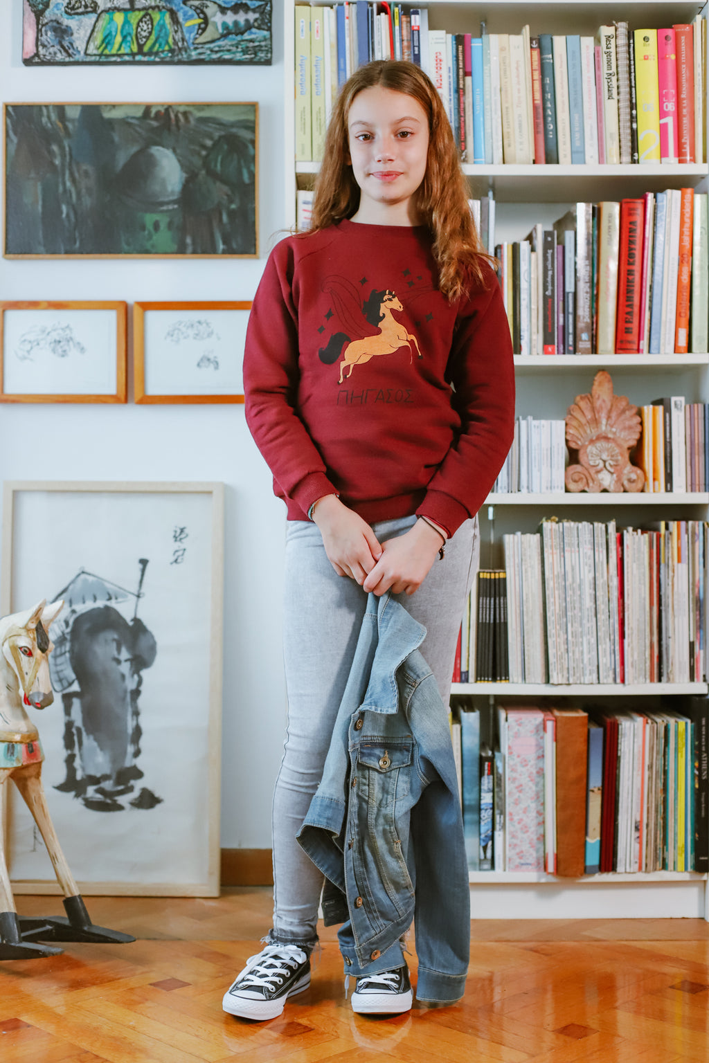 Pegasus Bordeaux Sweatshirt