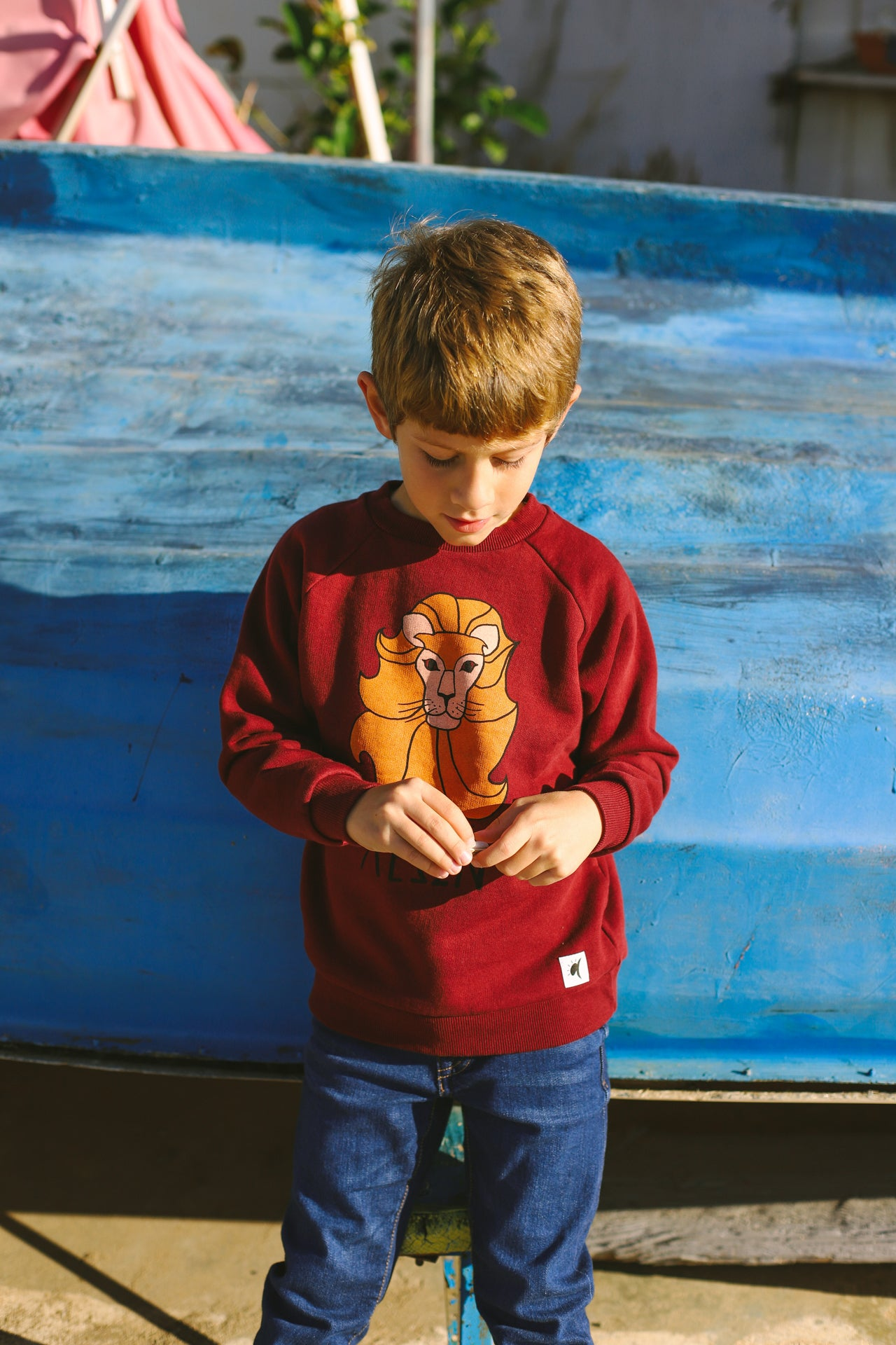 Lion Bordeaux Sweatshirt