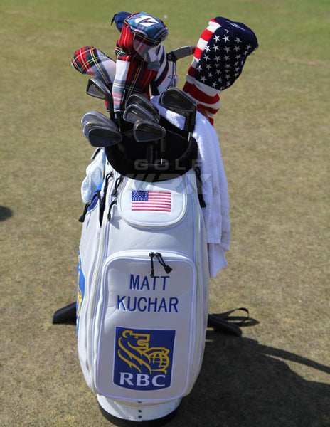 Matt Kuchars Bag with Seamus Head Covers at the 2015 US Open