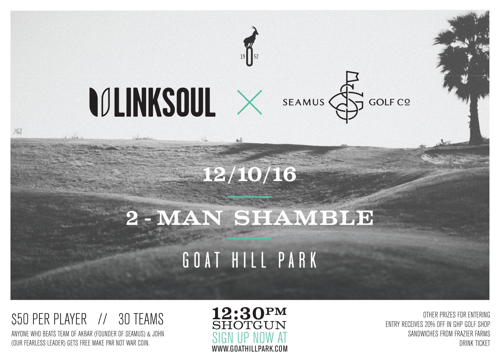 LINKSOUL X SEAMUS 2-MAN AT GOAT HILL PARK :: SHAMBLE
