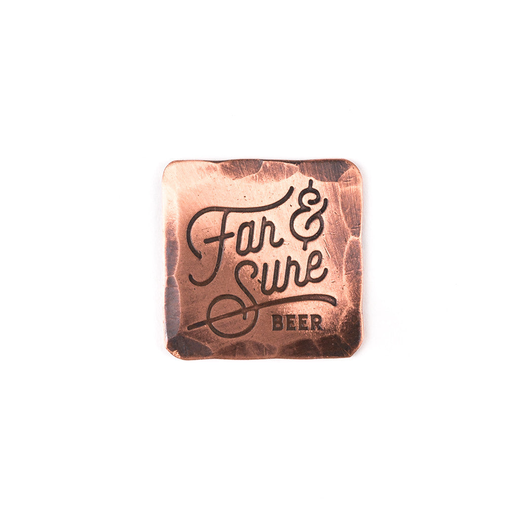 Hand Forged® Square Copper Far & Sure Ball Mark