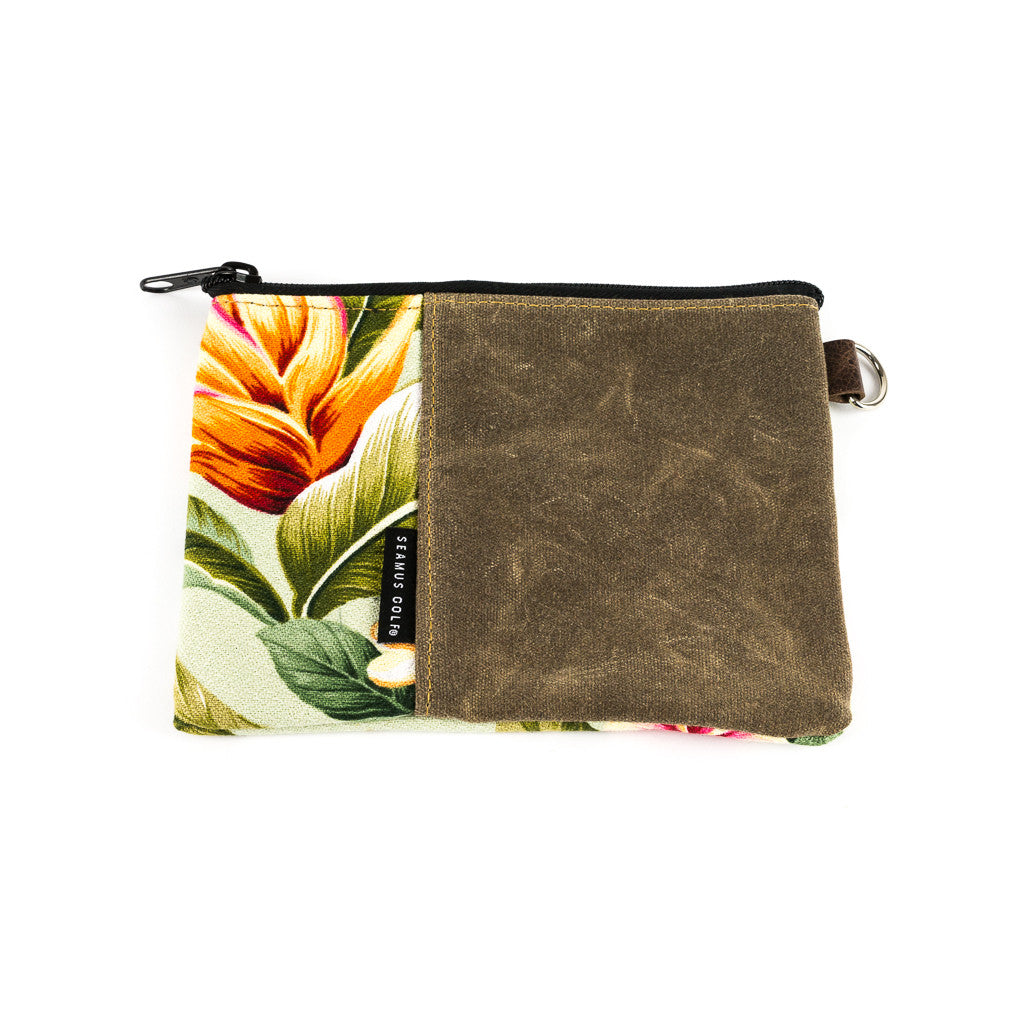 LILIKOI Zipper Waxed Canvas Pouch
