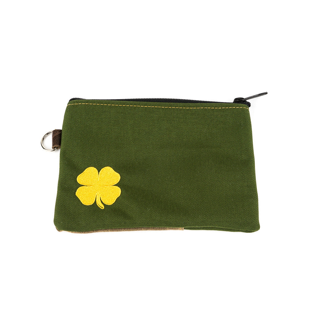 Four Leaf Clover Zippered Pouch