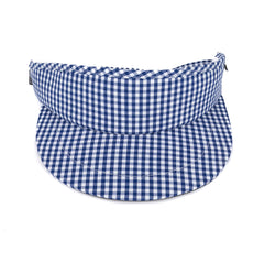 Blue Gingham Tour Visor
