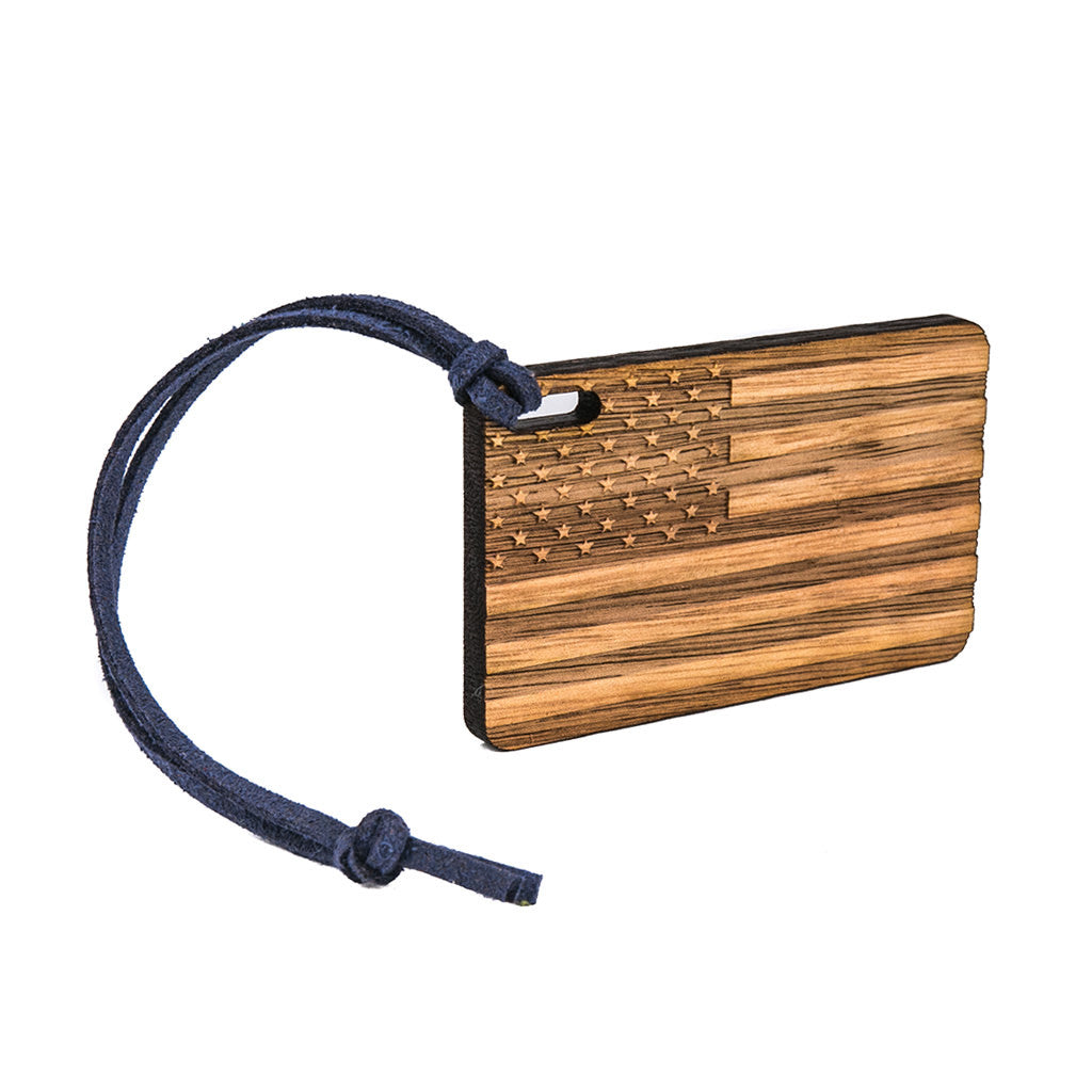 American Flag Bag Tag
