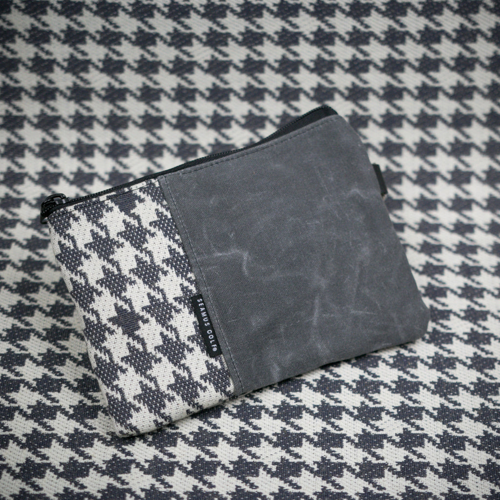 Exploded Dogtooth - Slate Zippered Pouch