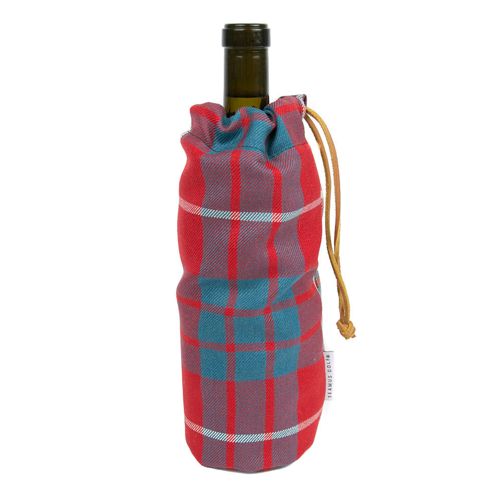 Hamilton Red Modern Fairway Bottle Bag