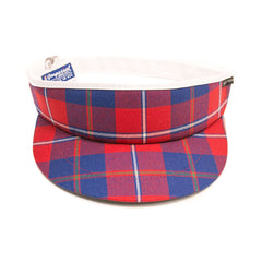 Galloway Red Modern Tartan Tour Visor