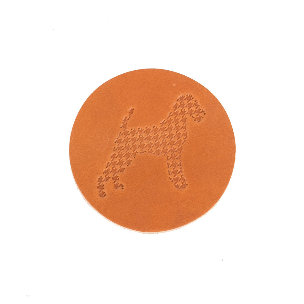 Seamus Dog Leather Coaster