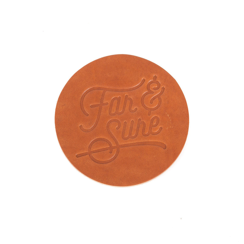 Far & Sure Leather Coaster