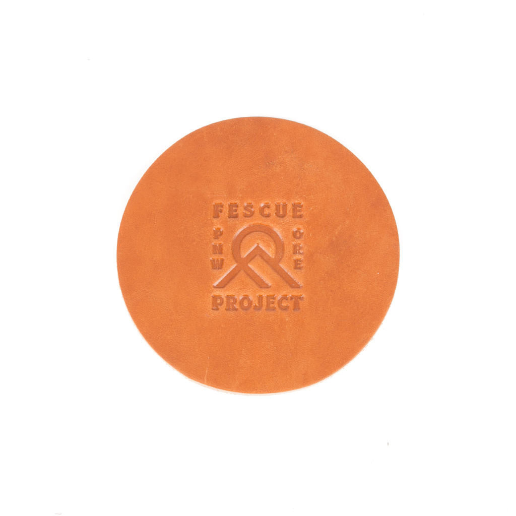 Fescue Project Leather Coaster