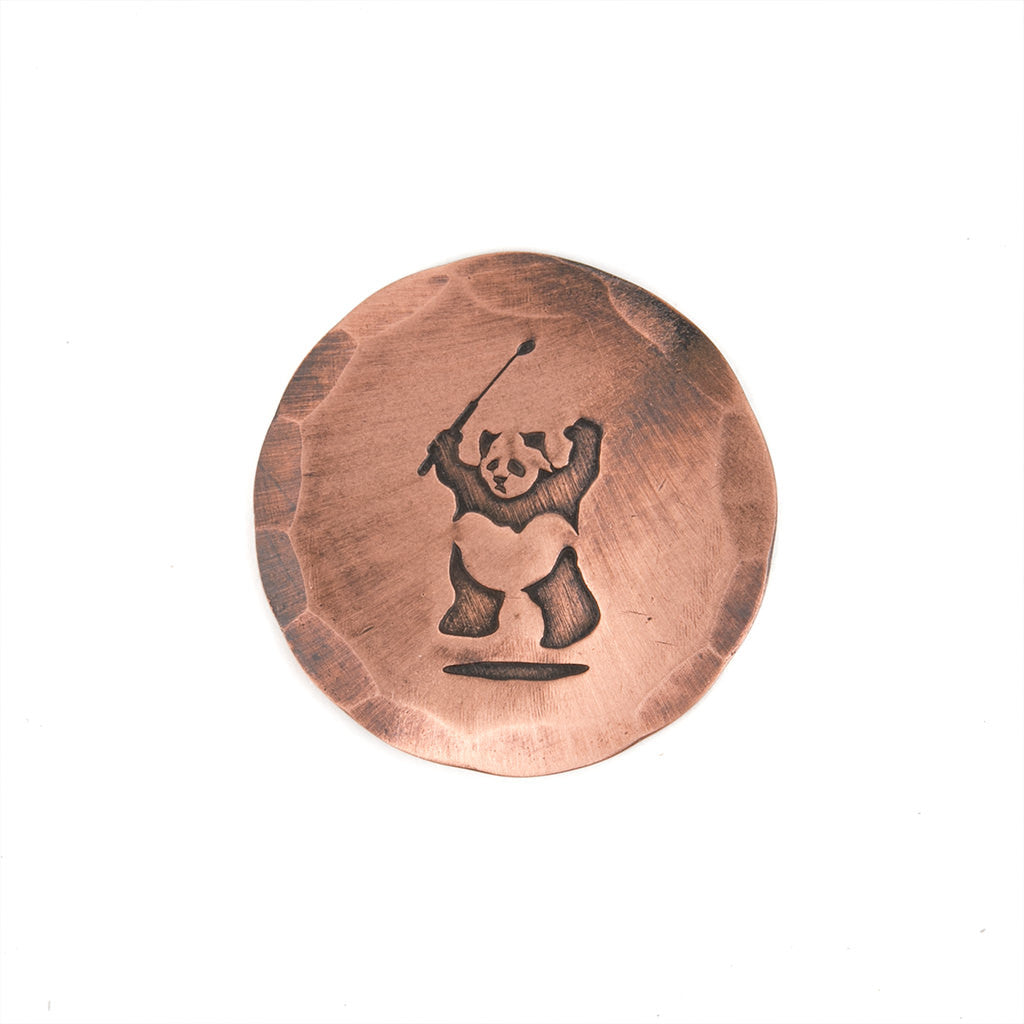 HAND FORGED® X PRESS GOLF® PANDA PHIL ARTISTS EDITION BALL MARK - Copper