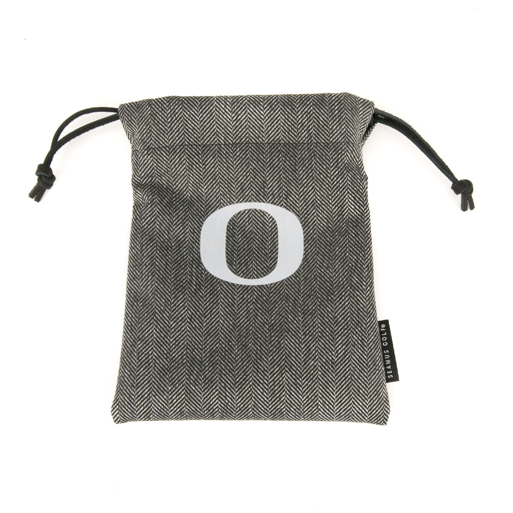 University of Oregon Modern Herringbone Drawstring Pouch