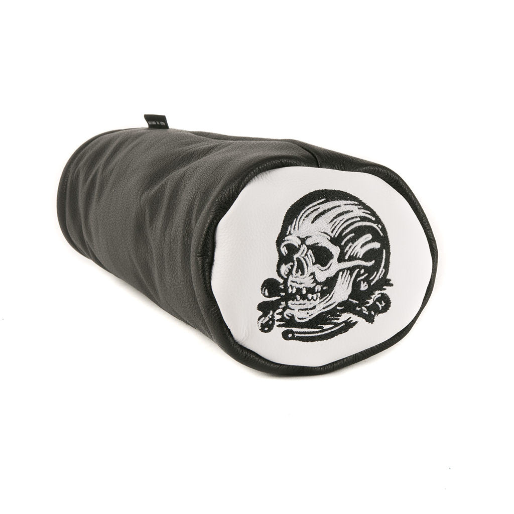 SEAMUS X DENTON WATTS® SKULL & CROSSBONES LEATHER DRIVER
