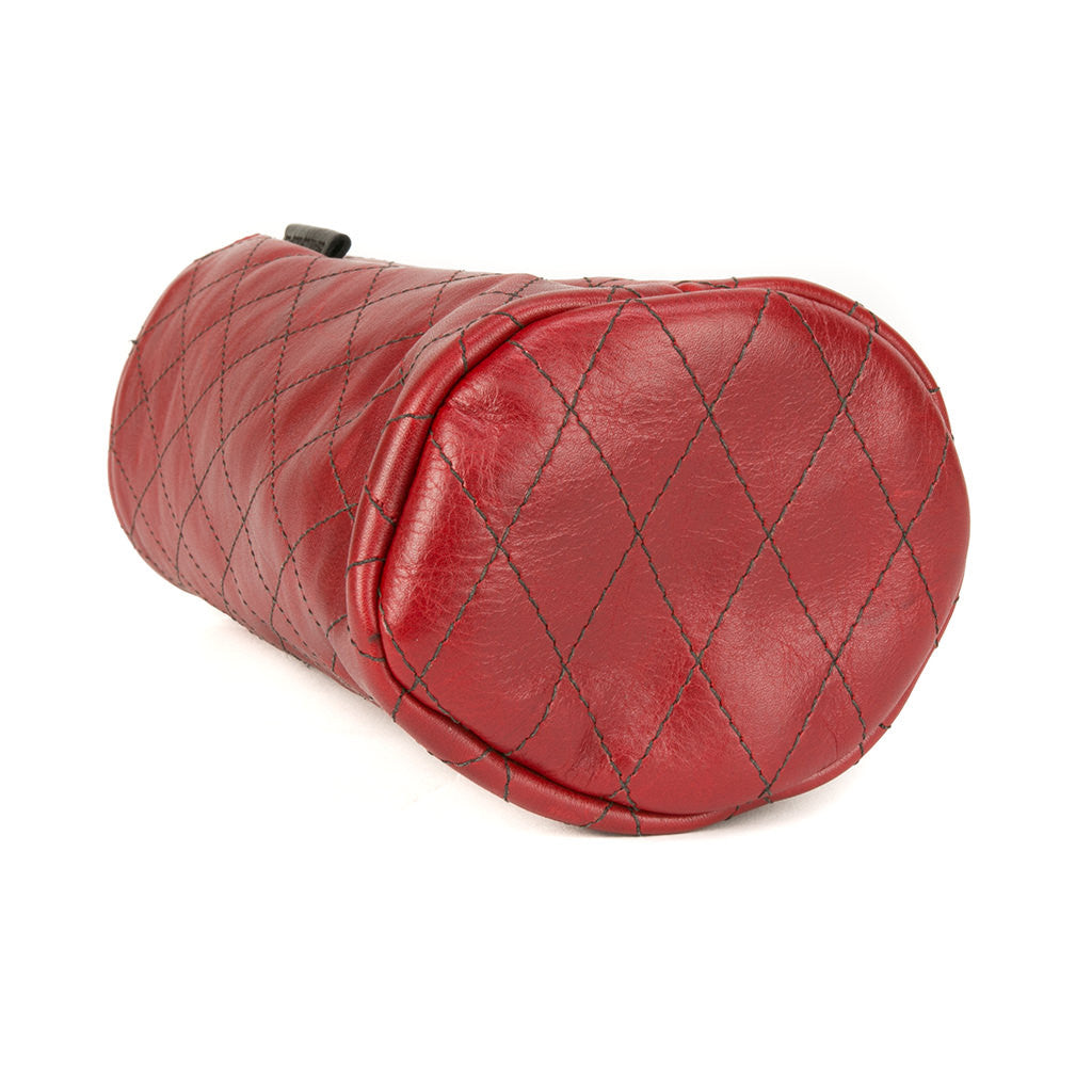 Quilted Red Leather Driver