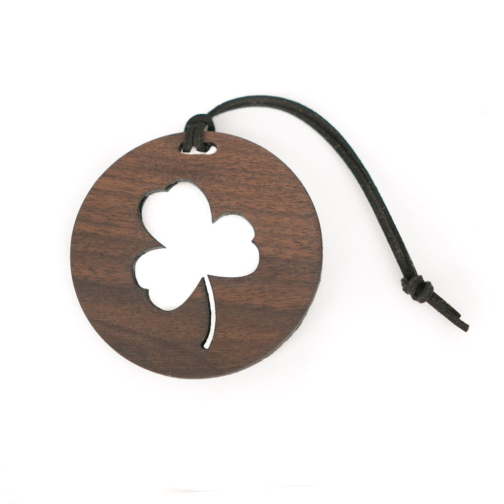 Shamrock Cutout Bag Tag