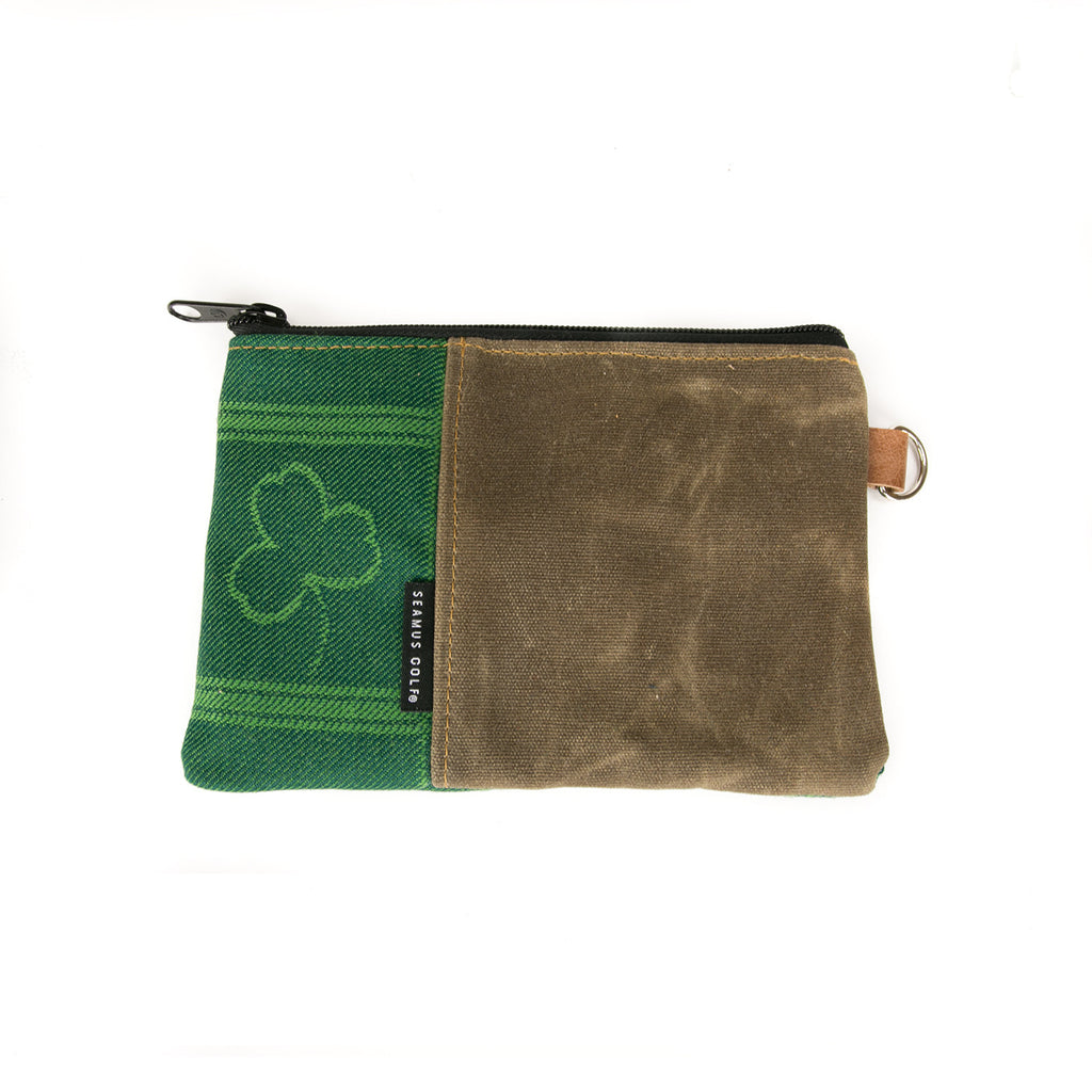 Shamrock Tartan Zippered Pouch