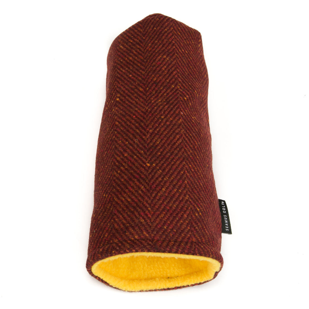 Burgundy Herringbone Tweed
