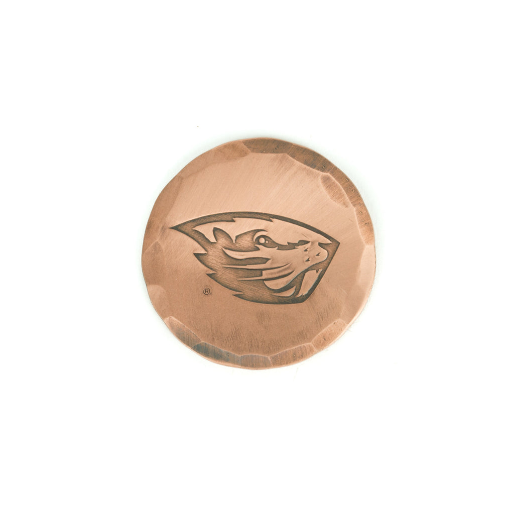 Hand Forged® Oregon State Beaver Logo Ball Mark - Copper