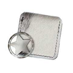 Hand Forged® Lone Star Cut-Out Ball Mark and Hair-on-Hide Pouch