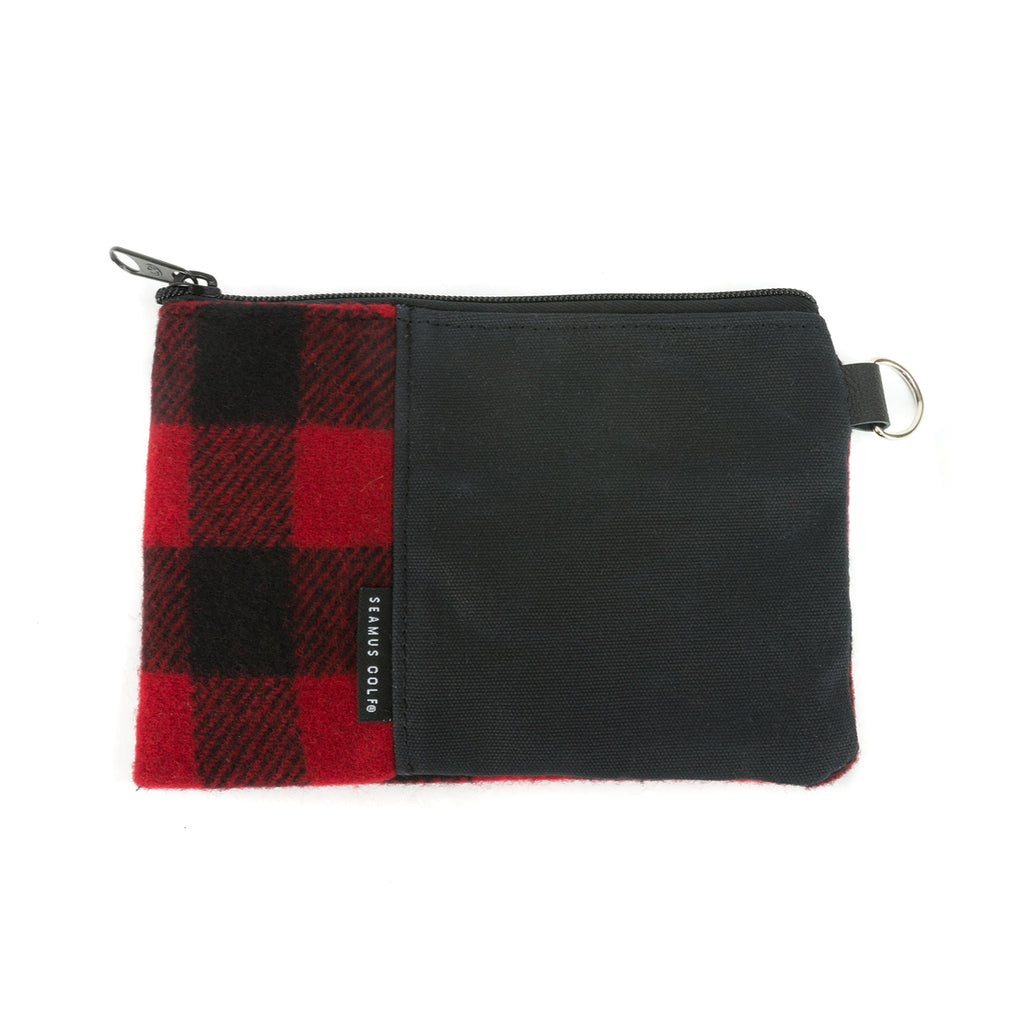 Buffalo Check Pouches