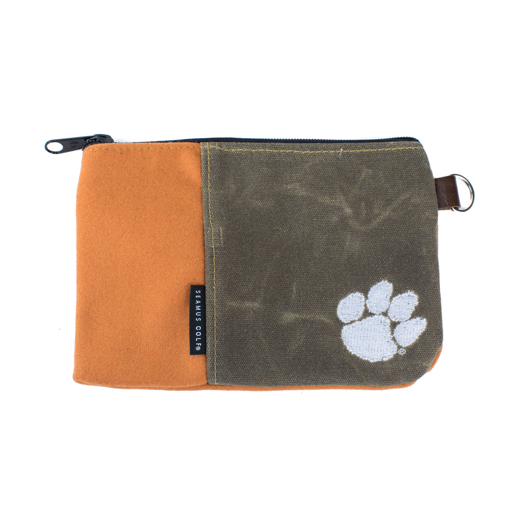 Clemson University Tigers Zippered Pouch