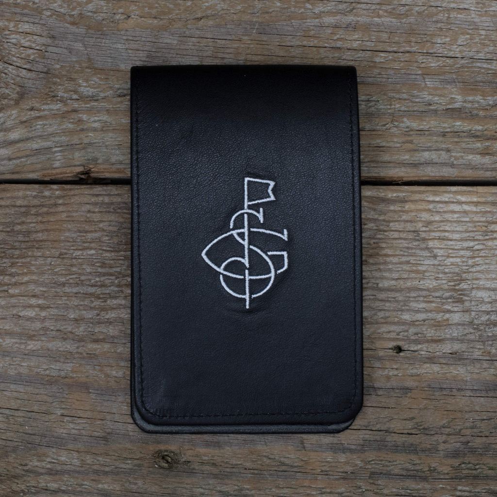 Black Leather Yardage Book Cover