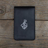Black on Black Leather Yardage Book Cover