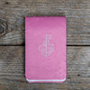 Pink Ostrich Leather Yardage Book Cover