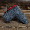Charcoal Tweed Magnet Blade Putter Cover