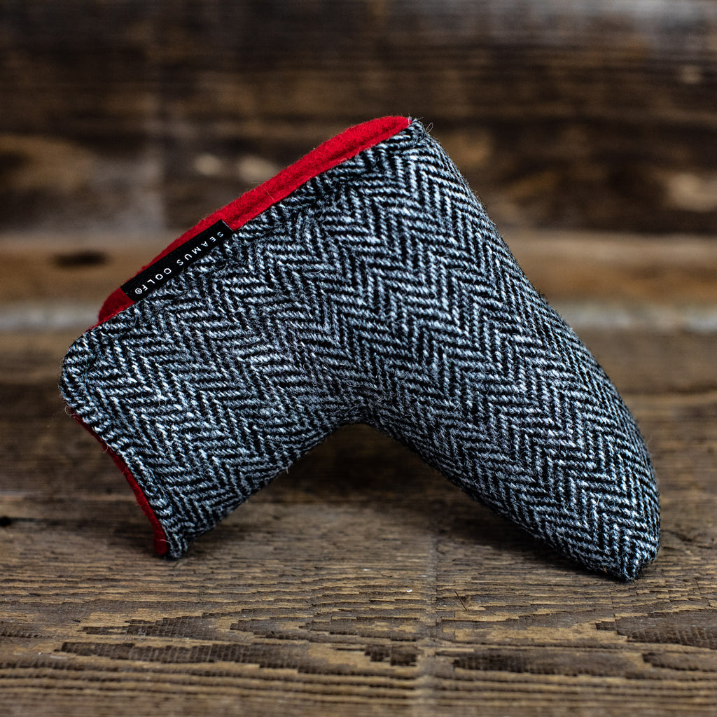 Charcoal Tweed Magnet Putter Cover