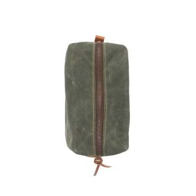 Hunter Green Mod Wax Canvas Dopp Kit