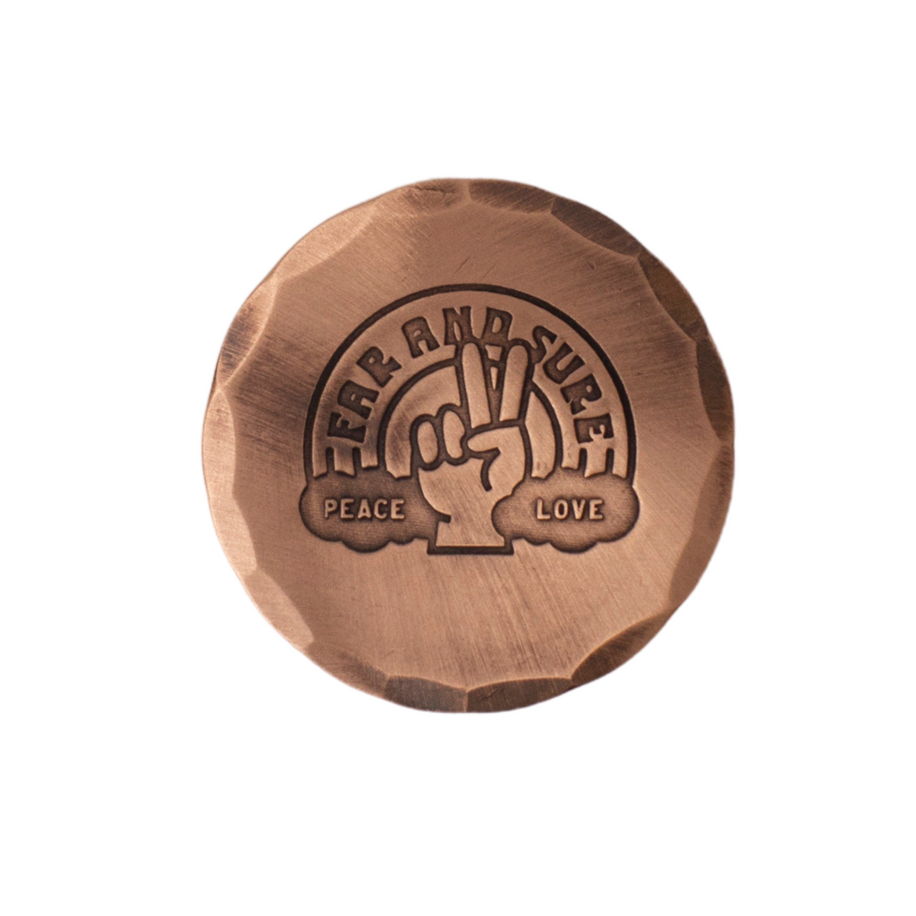 Hand Forged® Peace and Love Ball Mark- Copper