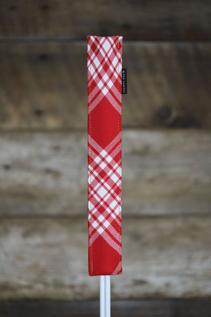 Red Menzies Tartan Alignment Stick Cover
