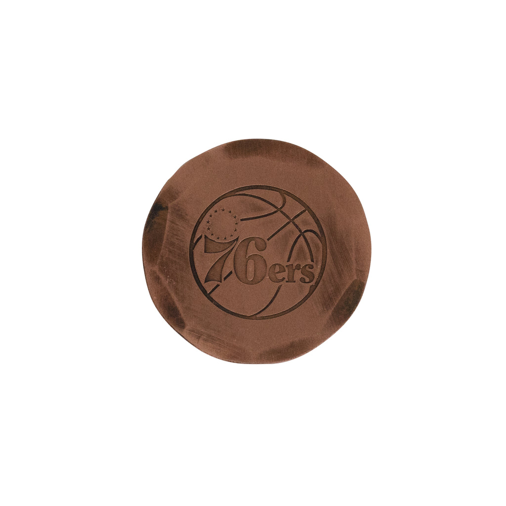 Hand Forged® Philadelphia 76ers Ball Mark - Copper