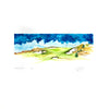 """Montauk"" Golf Course Print by Thad Layton"